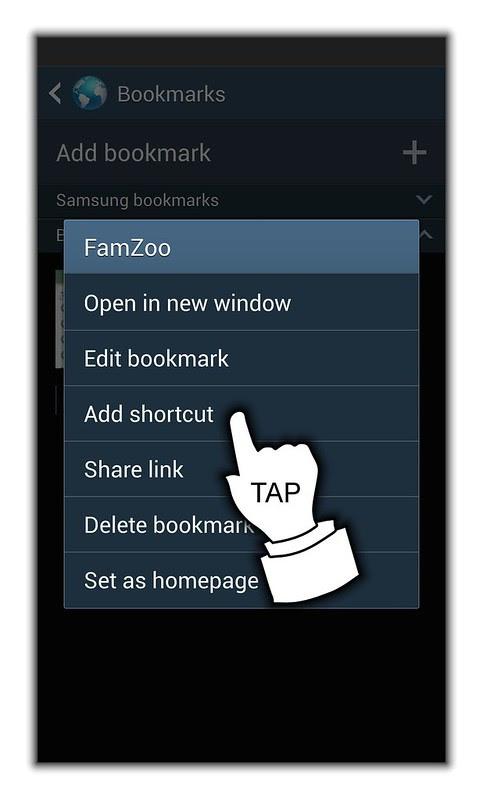 10) Tap Add Shortcut from Menu