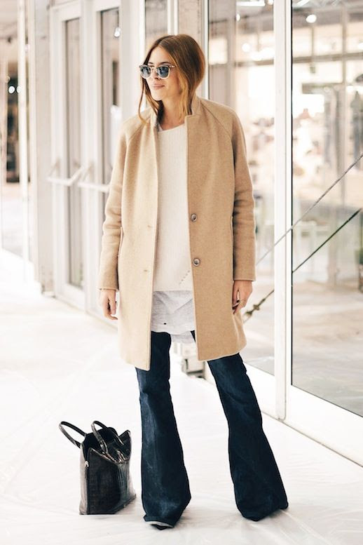 Le Fashion Blog 9 Ways To Wear Flared Jeans Wide Leg Denim Blogger Maja Wyh Camel Coat Sweater photo 2-Le-Fashion-Blog-9-Ways-To-Wear-Flared-Jeans-Wide-Leg-Denim-Blogger-Maja-Wyh-Camel-Coat-Sweater.jpg