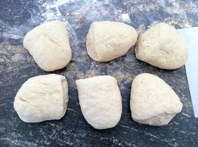 Half of Dough Split into 6ths