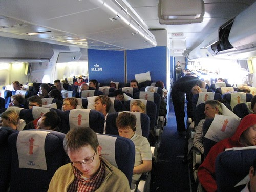 Airplane Pics Klm 747 Coach Cabin Pic