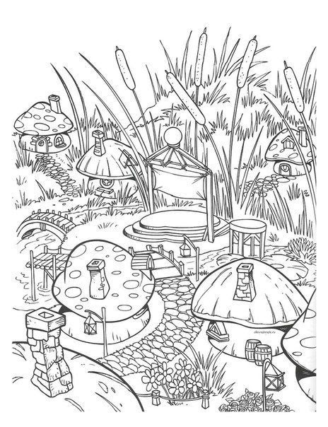 - Coloring And Drawing: Printable Mushroom Coloring Pages For Adults