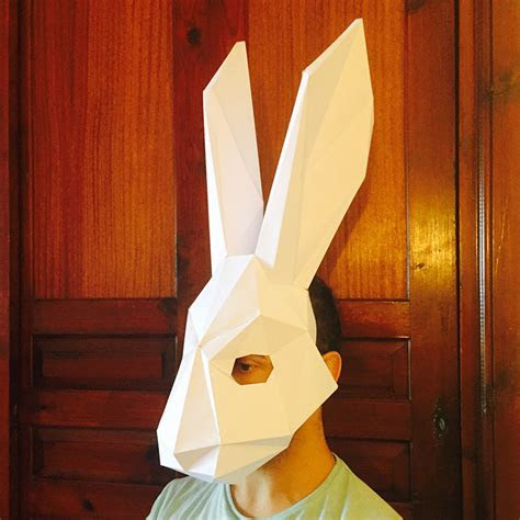 Make Your Rabbit Mask from paper, PDF pattern mask