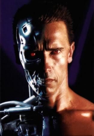 Olhar penetrante de Exterminador do Futuro