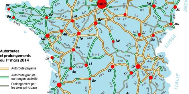 Carte Des Autoroutes De France 2016 Carte