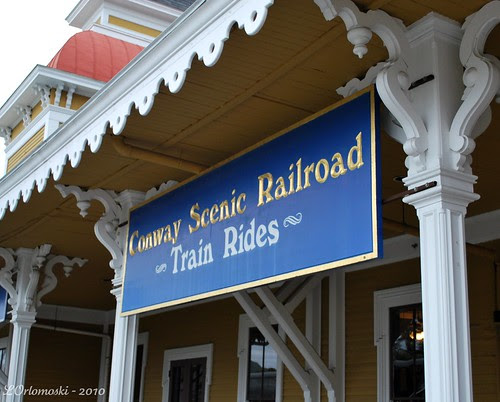 Conway Scenic Railroad Station Sign