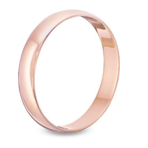 Men's 4.0mm Wedding Band in 10K Rose Gold   50th: Gold   Zales