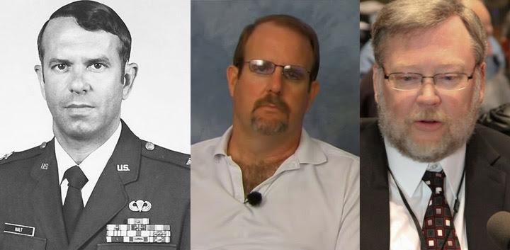 De izq. a der.: Cnel. Charles Halt, Jim Penniston, John Burroughs.