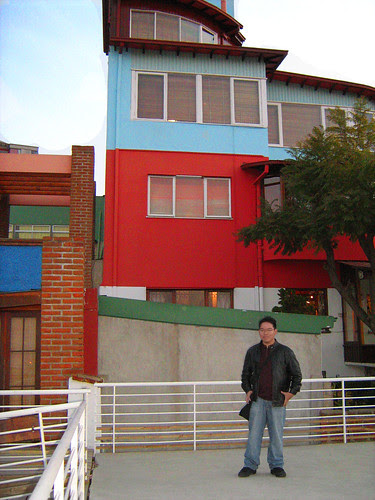 Standing in front of La Sebastiana