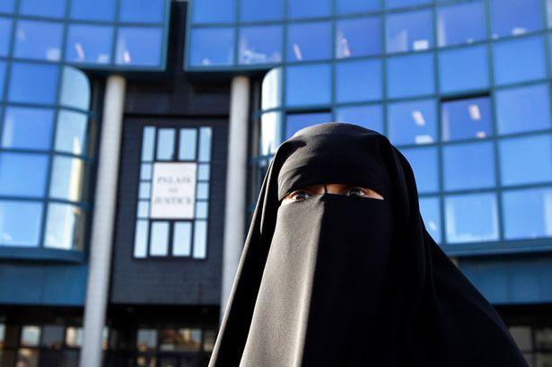 Muslim woman in a burqa