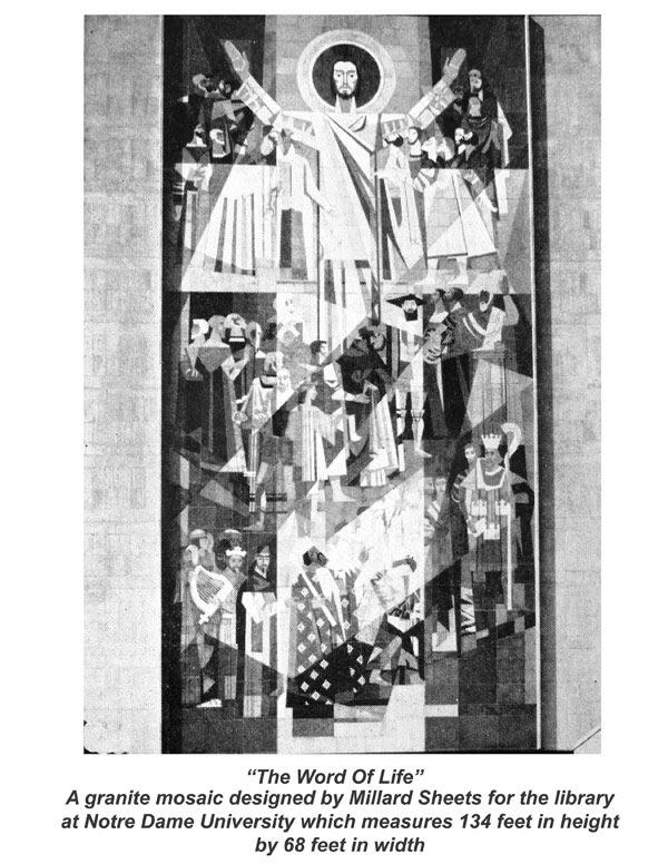 Granite Mosaic Mural at Notre Dame