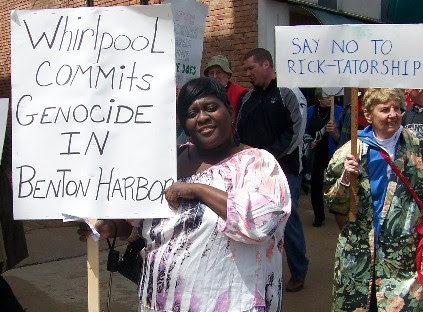 Rev. Pinkney asks that everyone continue the boycott of Whirlpool, as well as the Harbor Shores development, and the Sr. PGA held at its golf course, all backed by Whirlpool
