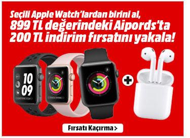Seçili Apple Watch'lardan birini al, 899TL değerindeki Airpods'ta 200TL indirim fırsatını yakala!
