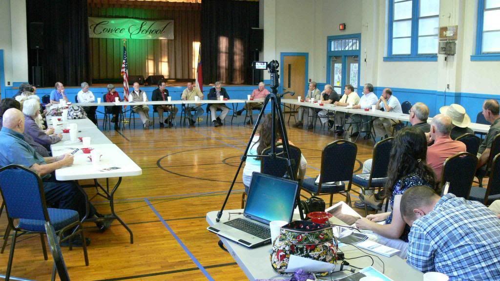 County Commissioners meet with Towns at Cowee School