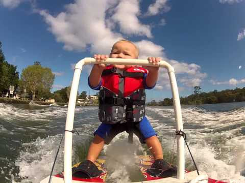 PART 2 Baby Ryder's On His Way To Waterski! 11 Months Old Waterskiing Behind Boat! ORIGINAL