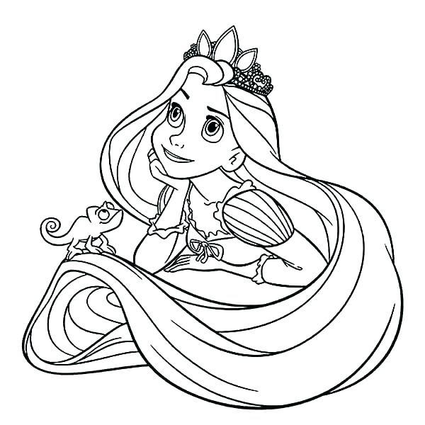 Disney Princess Tangled Coloring Pages At Getcoloringscom Free