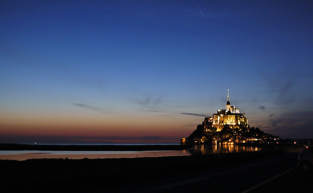 Mont St Michel by Night