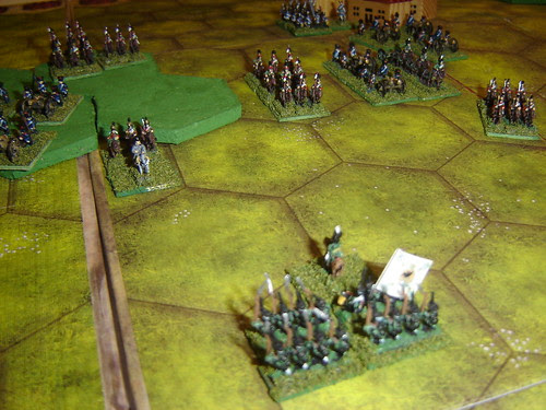 Russian infantry division forces French lancers back with fearful losses