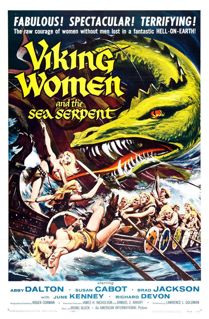 Reynold Brown - Viking Women and the Sea Serpent (American International, 1957)