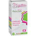 Maxim Hygiene Products Tampons - Organic Cotton - Cardboard Applicator - Super - 14 Count
