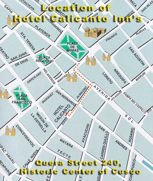 Location of Hotel Calicanto Inn's
