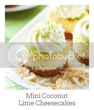"""Mini Coconut Lime Cheesecakes"""