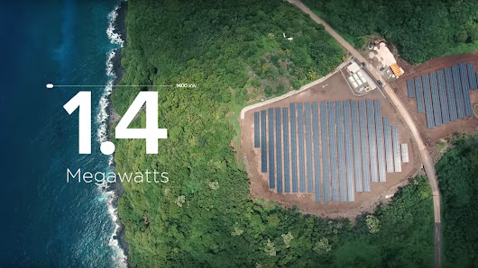Tesla powers a whole island with solar to show off its energy chops