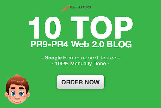 I will build 10 web 2 0 blog from High pr 9 to 4 sites, manually for $5