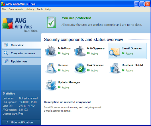 How to install and then disable AVG antivirus in windows xp for some time?