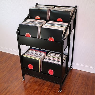 LPBIN3 Vinyl Record Storage Cabinet with Casters