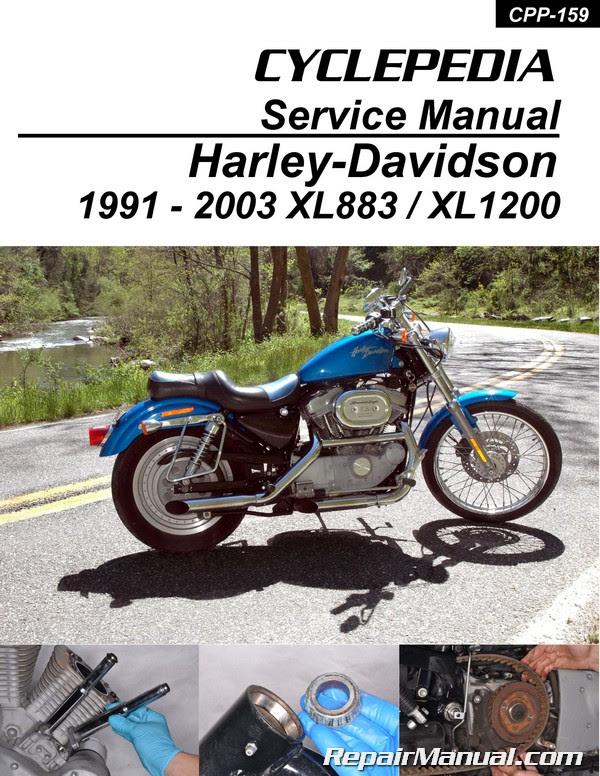 Harley-Davidson XL883 XL1200 Sportster Printed Cyclepedia ...