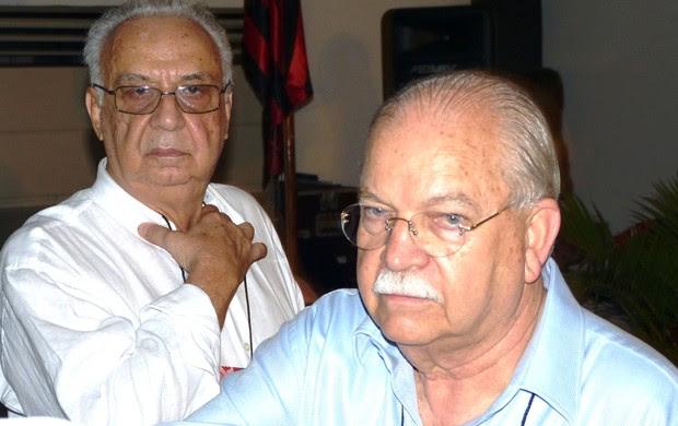 Gilberto Cardoso Filho e Delair, eleição Flamengo (Foto: Vicente Seda / Globoesporte.com)