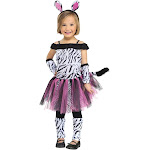 Zebra Toddler Costume - 35019 - Black - Large (3T/4T)