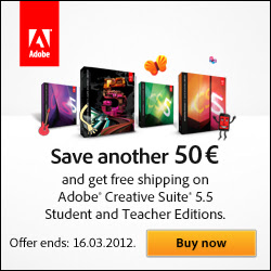 Save ?50/£40 and get free shipping on CS5.5 EDU