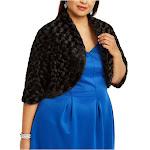 ROBBIE BEE Womens Black Short Sleeve Open Cardigan Sweater