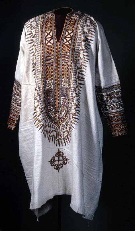 Africa   Tunic from Ethiopia; cotton embroidered with silk