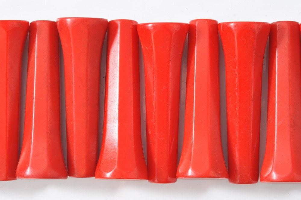 1940's Red Bakelite Catalin Handles