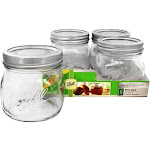 Ball Wide Mouth 16 oz. Pint Mason Jars Elite Collection Design Series 4 Count