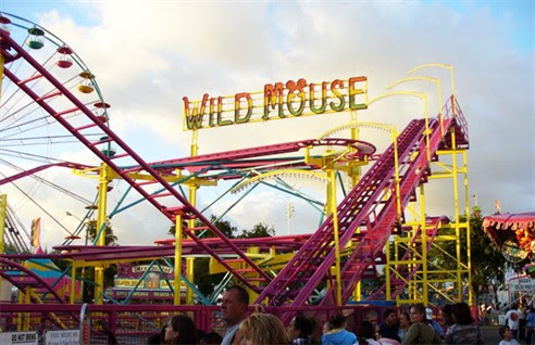 Wild Mouse Rollercoaster Visits Paignton Green 2017