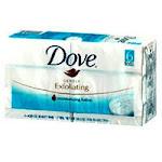 Dove Gentle Exfoliating Beauty Bar Soap - 4.25 Oz, 6 Ea