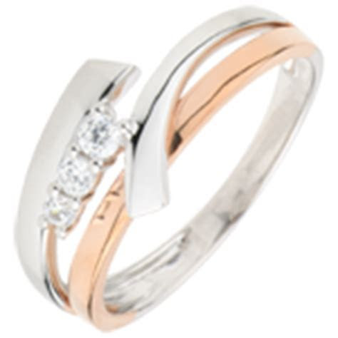 Trinidad Trilogy Ring   3 Golds   3 Diamonds : Edenly jewelery