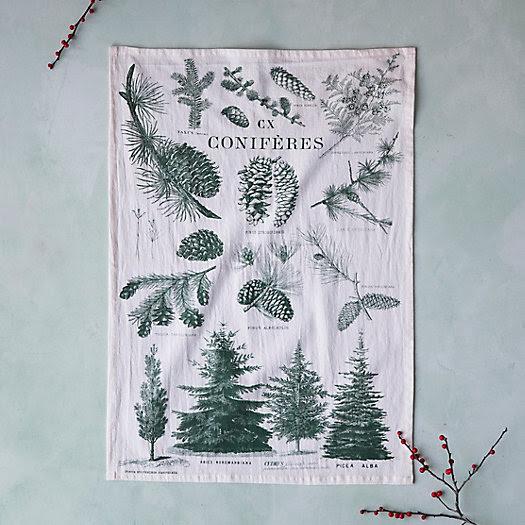 Conifer Chart Tea Towel