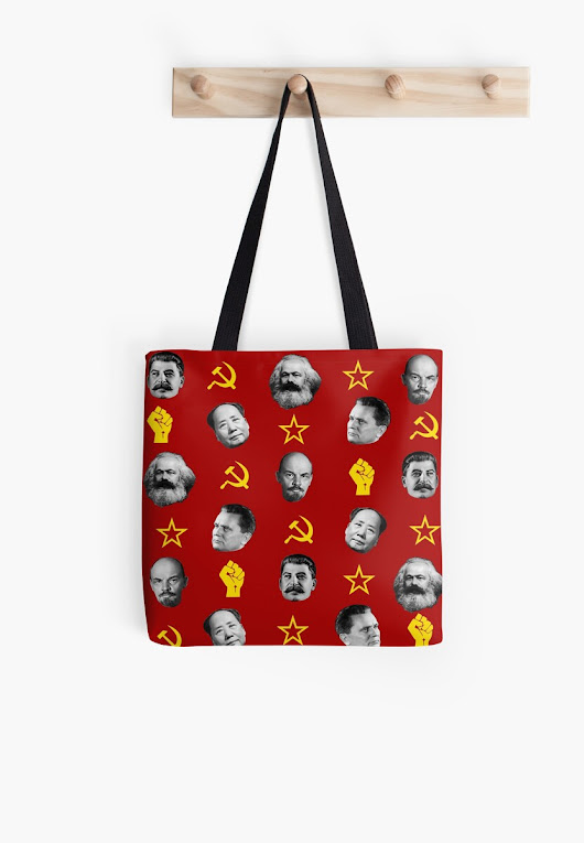 'Communist Leaders' Tote Bag by ValentinaHramov