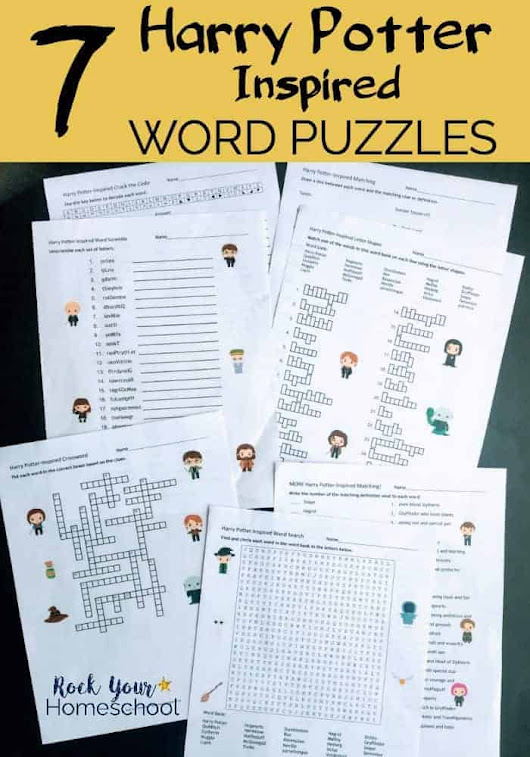 Harry Potter-Inspired Word Puzzles for Learning Fun Activities - Rock Your Homeschool