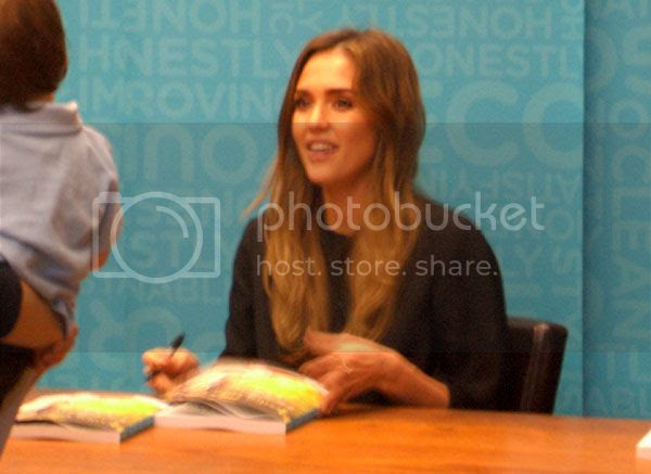Jessica Alba signs copies of her new book in Pasadena on March 16, 2013.