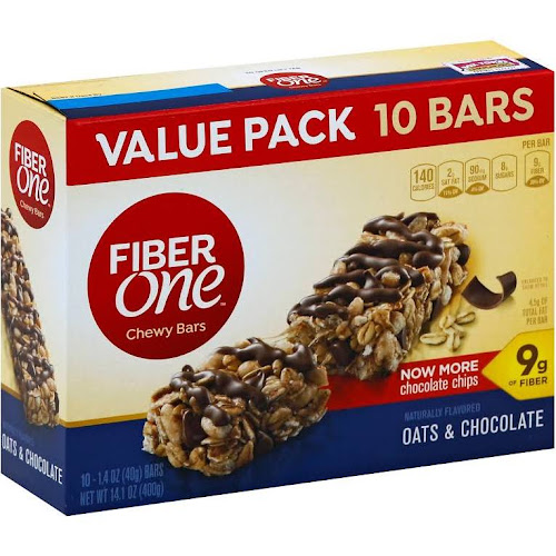 Fiber One Chewy Bars, Oats & Chocolate - 10 pack, 1.4 oz bars
