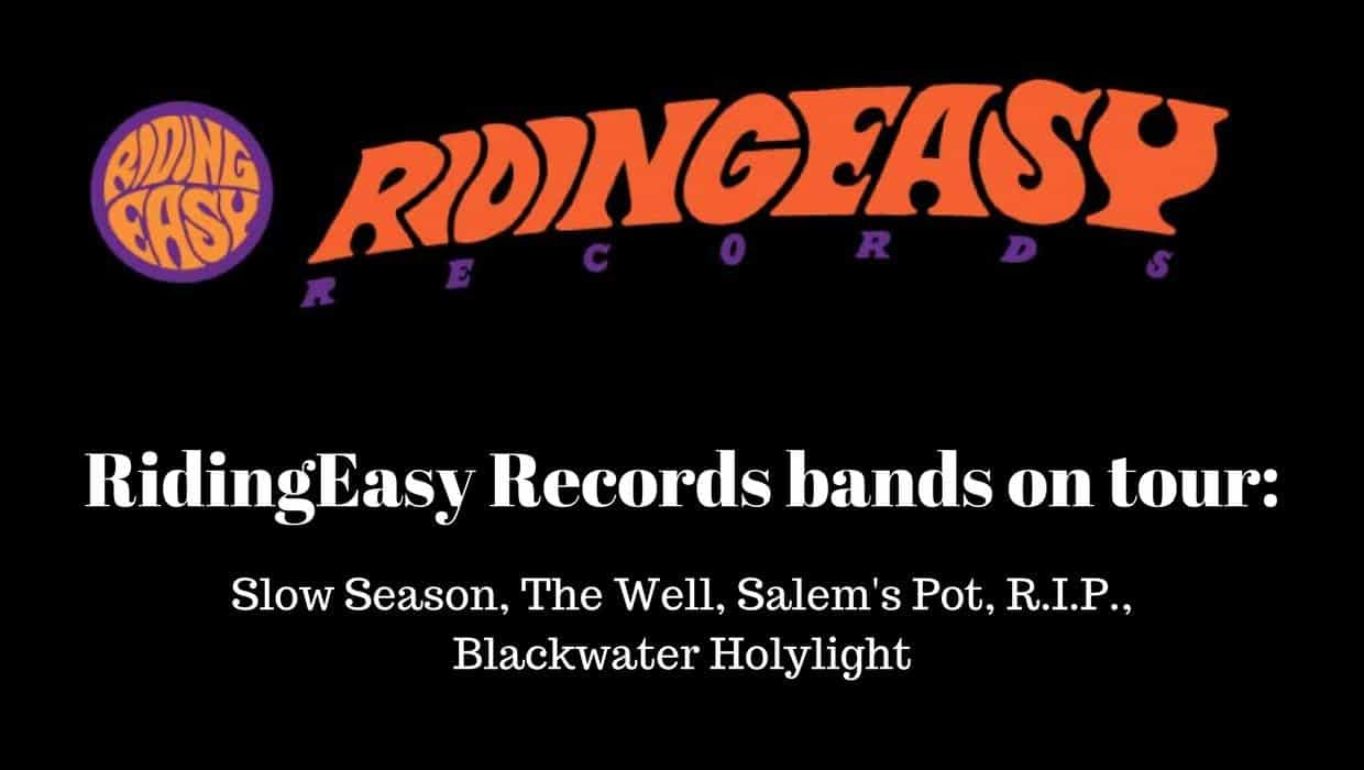 RidingEasy Records bands On Tour Poster