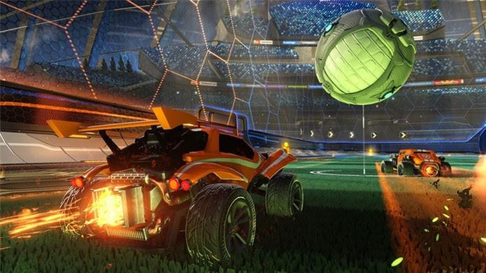 rocket-league-game-superaquece (Foto: Rocket League traz um esporte caótico com corrida de carros e uma bola gigante para o PlayStation 4 (Foto: Reprodução/IGN))