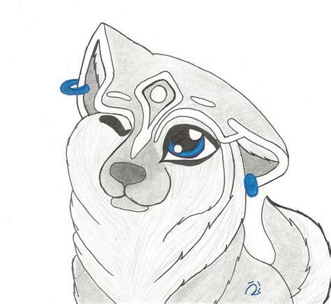 draw  robot wolf