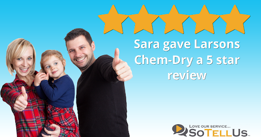 Sara C gave Larsons Chem-Dry a 5 star review