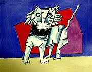 Artist  Singh - White Cat 2